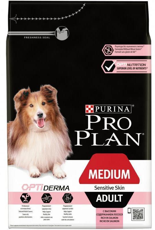 Сухой корм Сухой корм, Purina Pro Plan, для взрослых собак средних пород с чувствительной кожей, лосось с рисом средних_пород_с_чувствительной_кожей__лосось_с_рисом.jpg