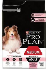 Сухой корм, Purina Pro Plan, для взрослых собак средних пород с чувствительной кожей, лосось с рисом
