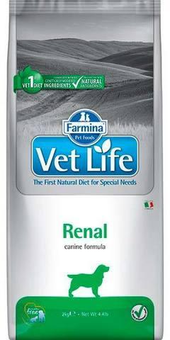 2 кг. FARMINA Vet Life Сухой корм для собак при заболеваниях почек Renal