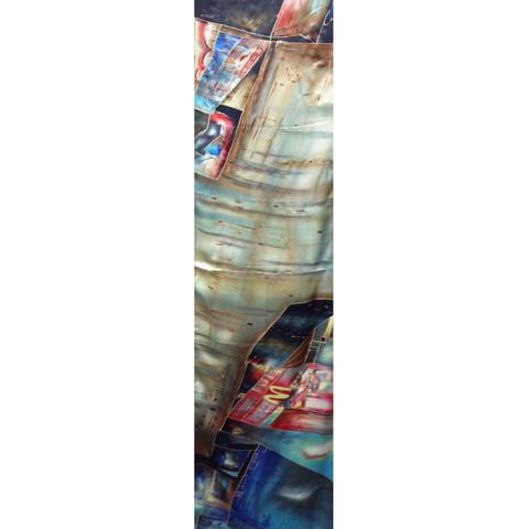 Шелковый шарф батик Мегаполис С-57