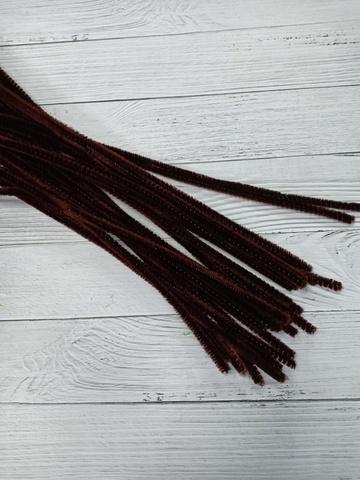 Проволока синельная, цвет коричневый, размер 30 см, 30 шт