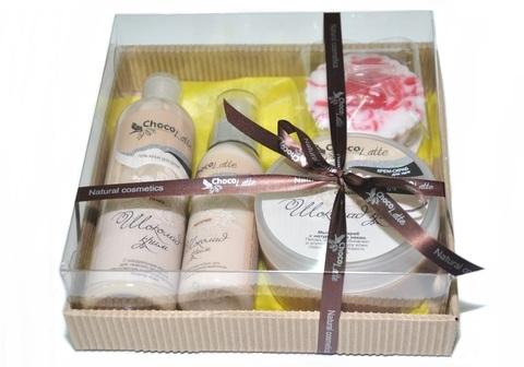 Набор подарочный №4 для тела и душа Шоколад-Крим (пенка, молочко, скрабби, м/ассорти)/TM ChocoLatte