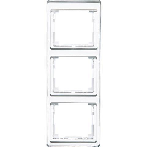 Рамка на 3 поста, вертикальная. Цвет Белый. JUNG SL. SL583WW