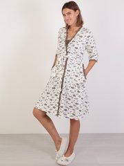 Евромама. Комплект халат и сорочка с лифом-корзинкой, молоко вид 2