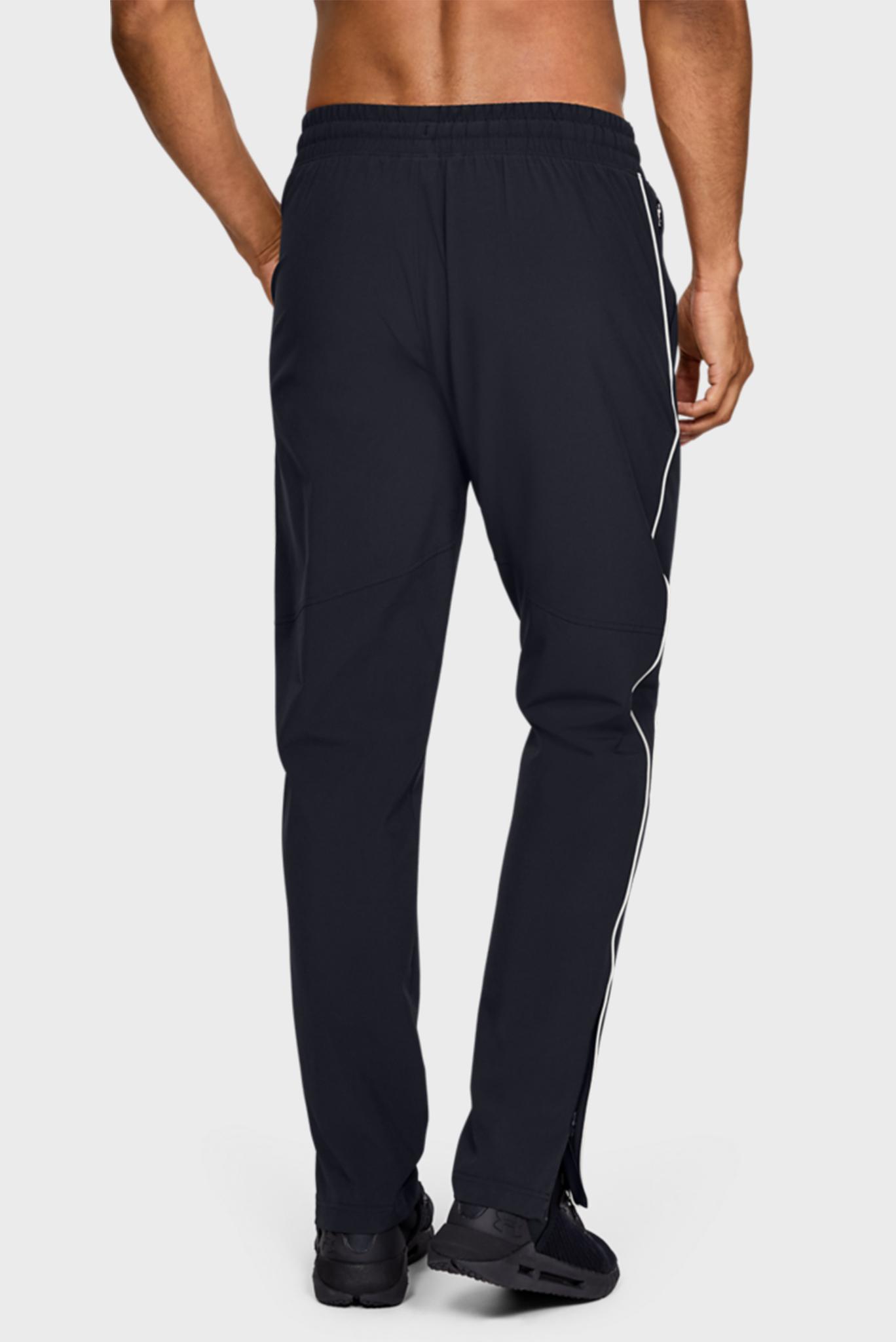 Мужские черные спортивные брюки Athlete Recovery Woven Warm Up Under Armour