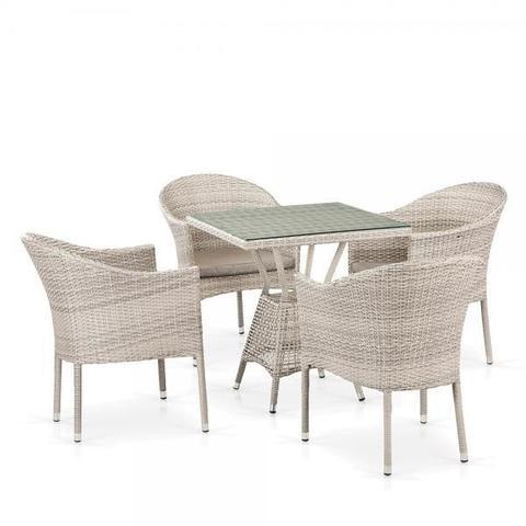 Комплект плетеной мебели из искусственного ротанга T706/Y350-W85 4Pcs Latte