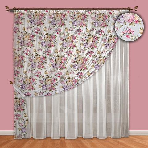 Комплект штор вуаль Надежда фиолетовый