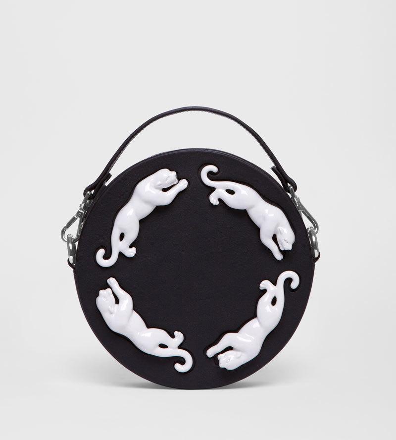 Круглая сумка из кожи Panther от ANDRES GALLARDO