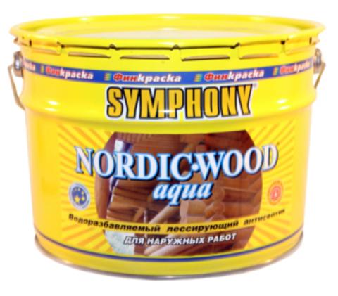 SYMPHONY NORDIC-WOOD Aqua – водоразбавляемый лессирующий антисептик с добавлением льняного масла