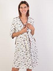 Евромама. Комплект халат и сорочка с лифом-корзинкой, молоко вид 3