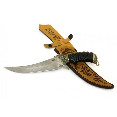 Нож Корсар, сталь D2, литье Скорпион, рукоять ценные породы дерева