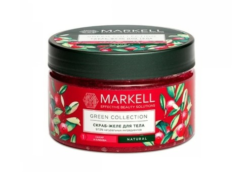 Markell Natural Line Скраб-желе для тела сахар+клюква 280г