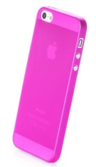 Чехол накладка Gurdini iPhone 5/5S/SE пластик розовый