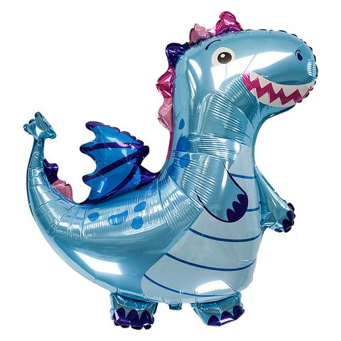 Фольгированная фигура Дракон (Синий)