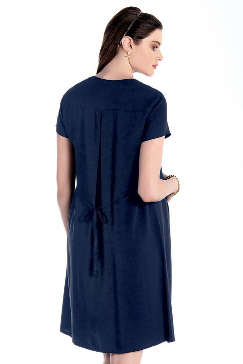 Платье для беременных 07589 синий