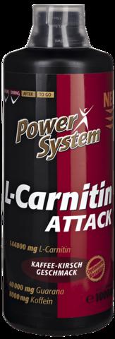 L-карнитин Аттак 3600 мг БУТЫЛКА 1000 мл Пауэр Систем