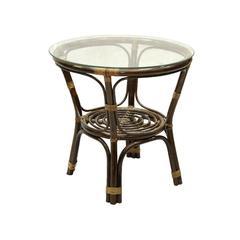 Стол кофейный из натурального ротанга
