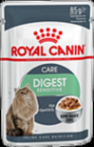 Digest Sensitive -  для улучшения пищеварения у взрослых домашних кошек старше 1 года 85г.