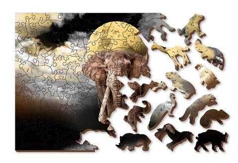 Мечты слона от Wooden City - медитативный деревянный пазл, для отдыха и душевного равновесия с деталями разных формы. Прекрасное время провождения за сборкой головоломки