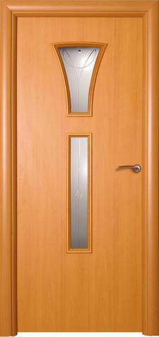 Дверь ДО 154 (ольха, остекленная ламинированная), фабрика Краснодеревщик