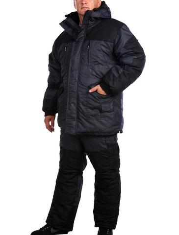 Зимний Костюм Горка 5(мембрана таслан серый) Шторм