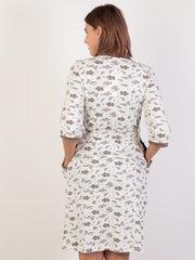 Евромама. Комплект халат и сорочка с лифом-корзинкой, молоко вид 4