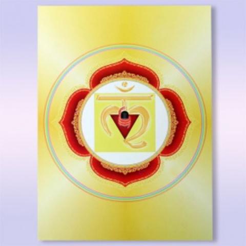 Открытка-оберег  Муладхара-чакра С описанием 10,5см-15см