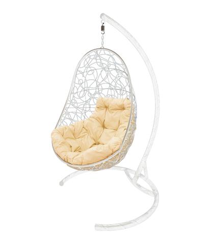 Кресло подвесное Parma white/beige