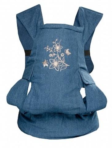 Чудо-Чадо. Слинг-рюкзак БебиМобиль Лайк, цветы