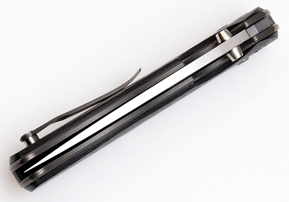 Нож Широгоров Табарган 100NS S35VN CF 3D карбон - фотография