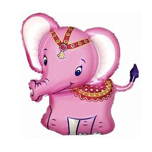 Фольгированный шар Слонёнок розовый 32