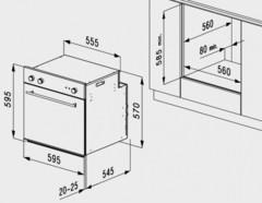 Встраиваемый духовой шкаф Korting OKB 1082 CRN- схема