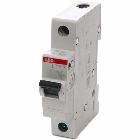 Автоматический выключатель 1-полюсный 6 A, тип C, 4,5 кА SH201L C6. ABB. 2CDS241001R0064