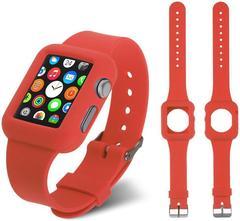 Ремешок силиконовый Apple Watch 40 мм с чехлом под часы