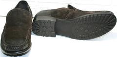 Утепленные мокасины из натуральной кожи. Туфли мужские кэжуал Welfare 555841 Dark Brown Nubuk & Fur.