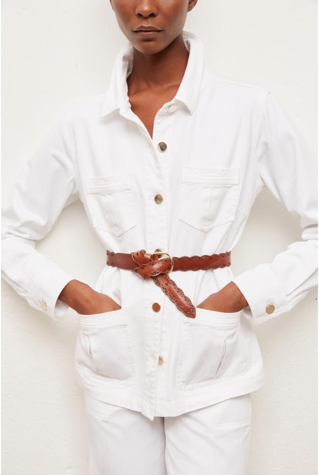 ADELE - Прямой джинсовый пиджак