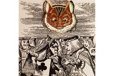 Пин Алиса в стране чудес. Кот