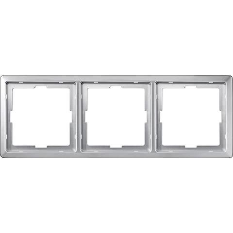 Рамка на 3 поста. Цвет Алюминий. Merten. Artec System Design. MTN481360