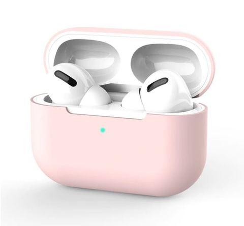 Силиконовый чехол для Airpods Pro розовый