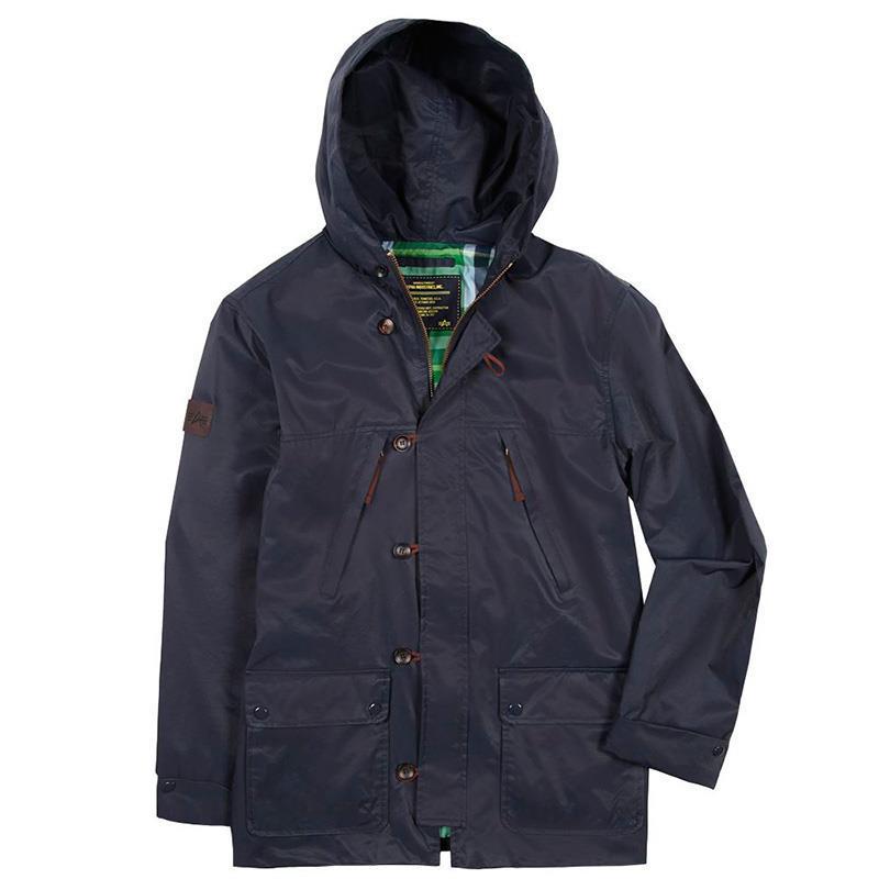 Куртка ветровка Alpha - Moresby (синяя - navy)