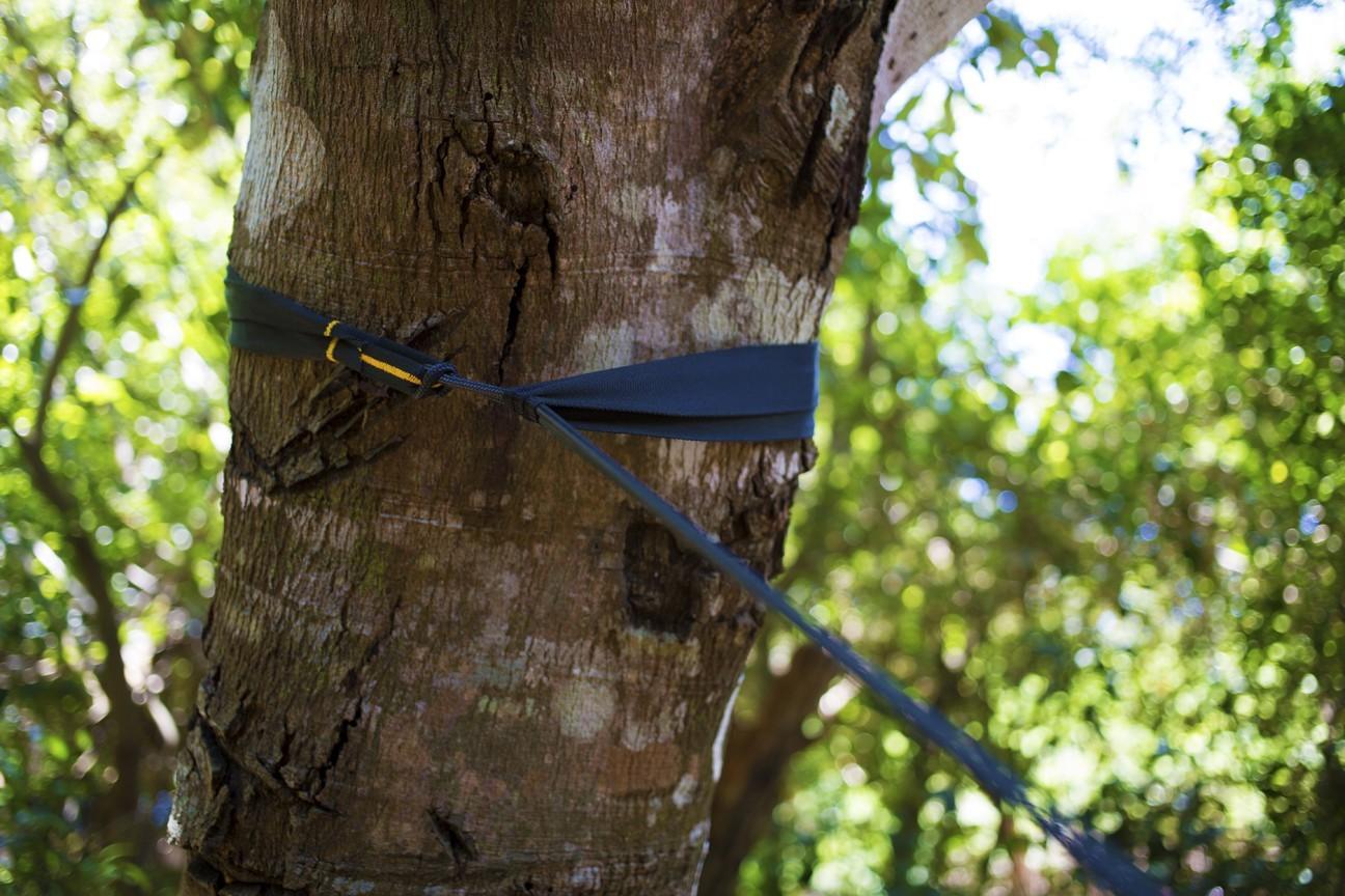 Как закрепить стрэпы на дереве.