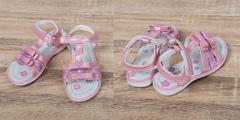 Обувь дет. № 6  Сандали для девочек Бантики Светло-Розовые