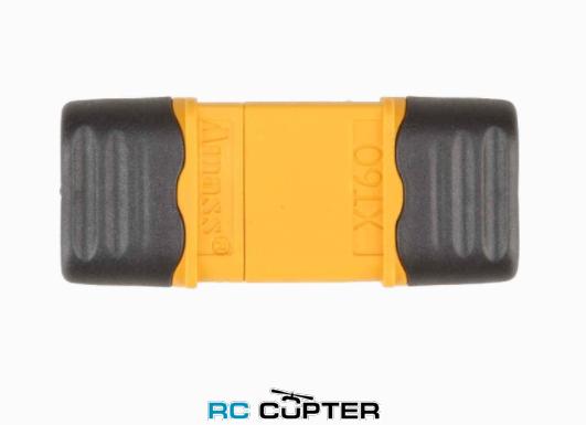 Нейлоновый разъём для батареи AMASS XT60+ (папа-мама) с кожухом для защитой провода (пара)