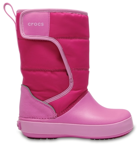 Детские сапоги Crocs Kids' LodgePoint Snow Boot Candy Pink / Party Pink