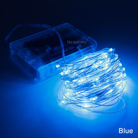 светодиодная гирлянда  тонкая проволока на батарейках