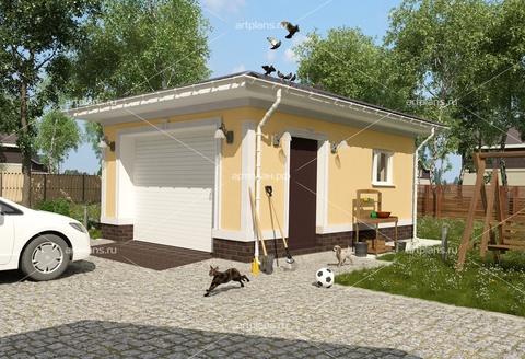 Проект гаража на 1 автомобиль