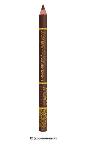 l`atuage Контурный карандаш для глаз №12 (коричневый)