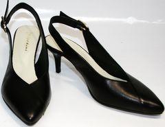 Босоножки закрытый носок Kluchini 5190 Black.