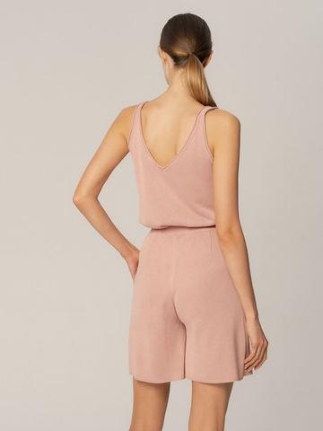 Женские шорты бежево-розового цвета из вискозы - фото 4