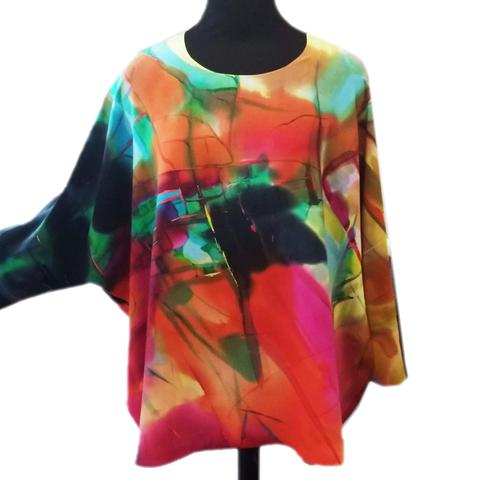 Шелковая блузка батик Абстракция